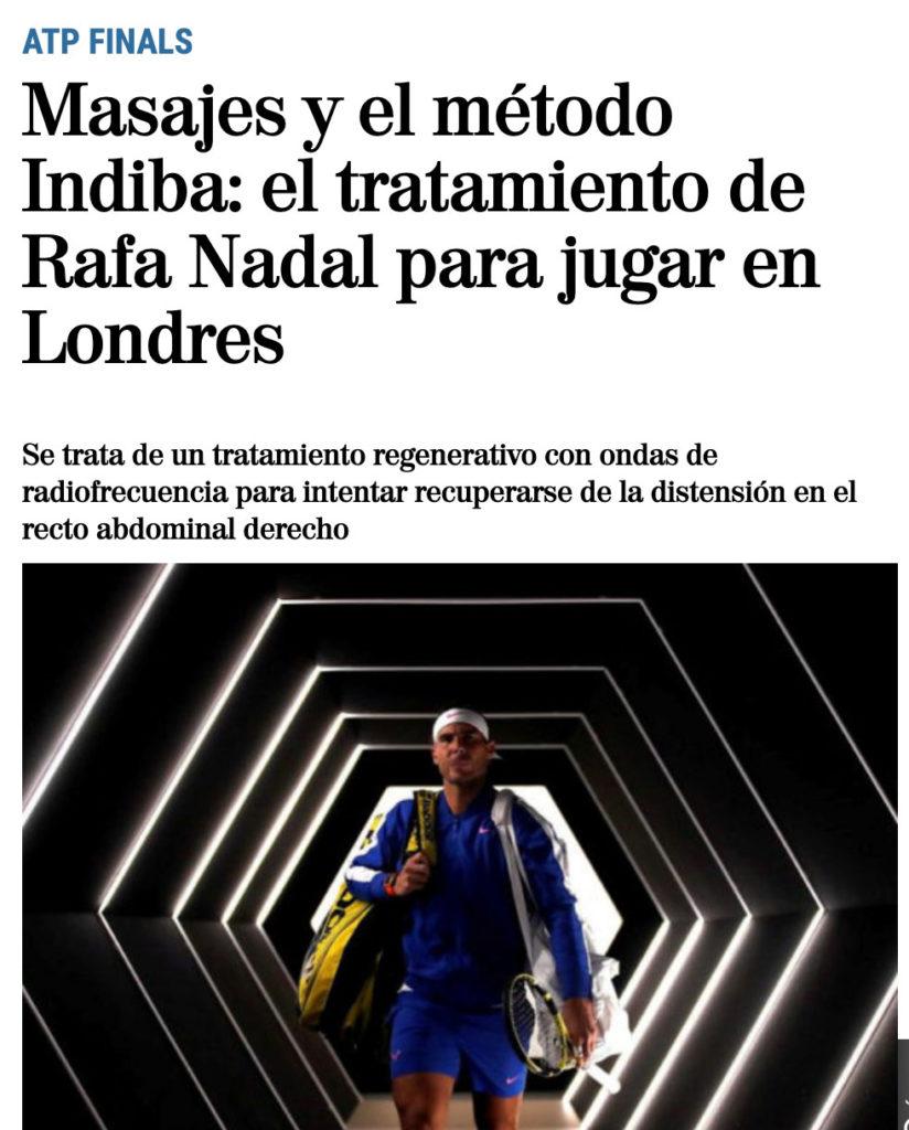 Método Indiba Rafael Nadal